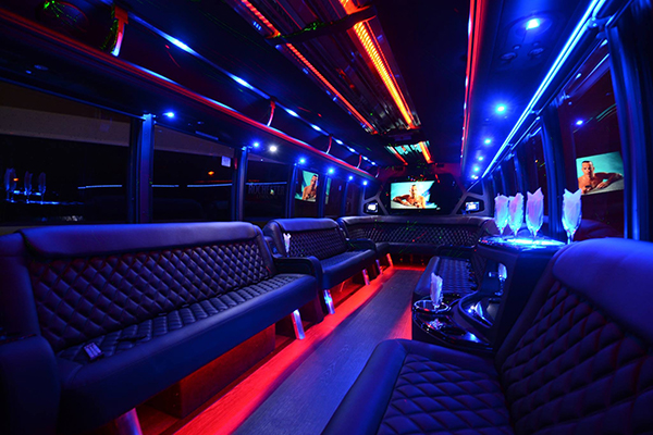 40-passenger-party-bus-rental-Carol Stream