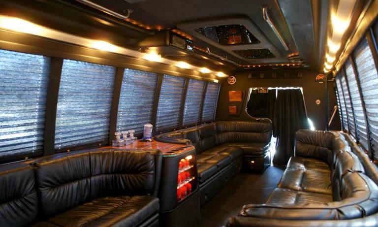 20 Passenger Party Bus Interior 2