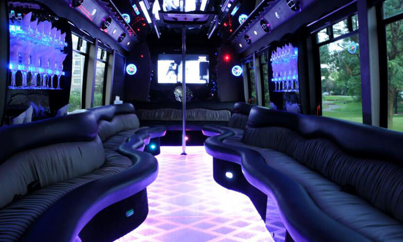 22 Passenger Party Bus Interior 2