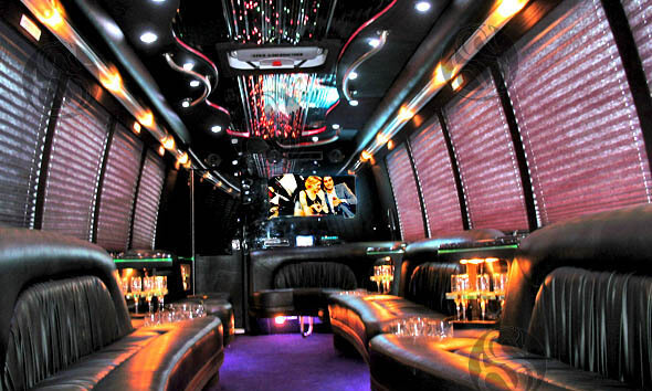 25 Passenger Party Bus Interior 1
