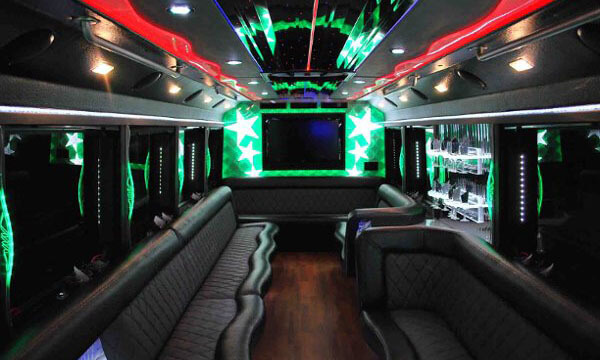 30 Passenger Party Bus Interior 1