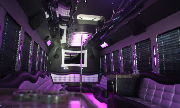 35 Passenger Party Bus Interior 1