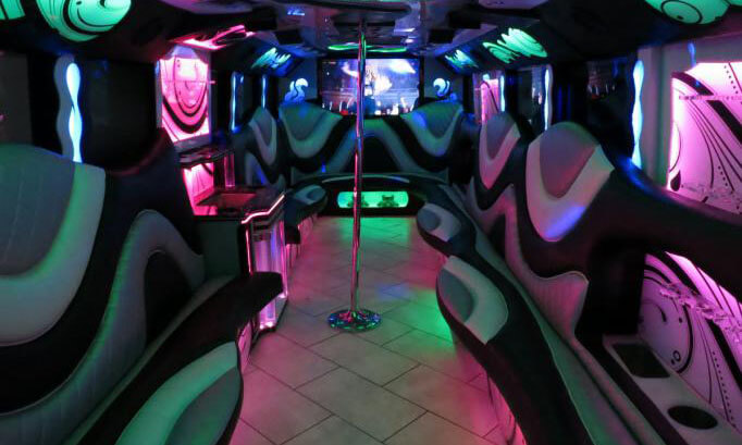35 Passenger Party Bus Interior 2