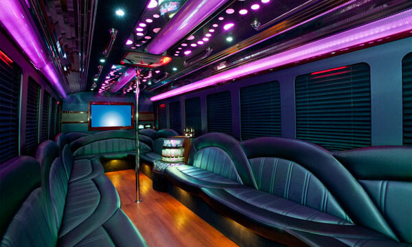 40 Passenger Party Bus Interior 1