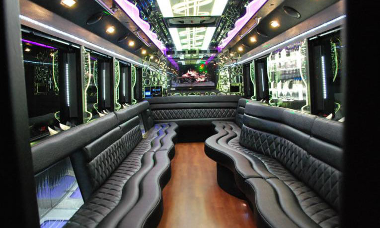 45 Passenger Party Bus Interior 1
