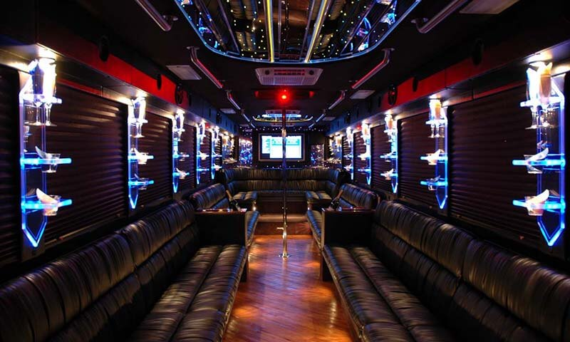 45 Passenger Party Bus Interior 2