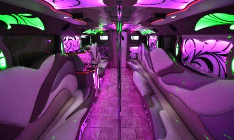 50 Passenger Party Bus Interior 2
